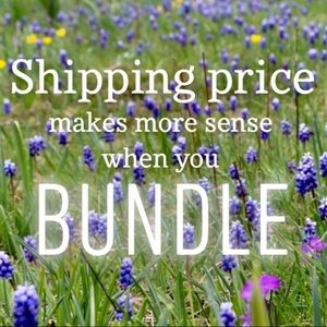 Bundle 2 or more items and save!!!